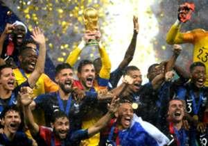 Grenzenloser Jubel bei den Franzosen. Die Equipe Tricolore krönte sich in Russland mit einem 4:2 gegen Kroatien im Finale zum zweiten Mal zum Weltmeister. Wir haben die besten Jubelbilder gesammelt.