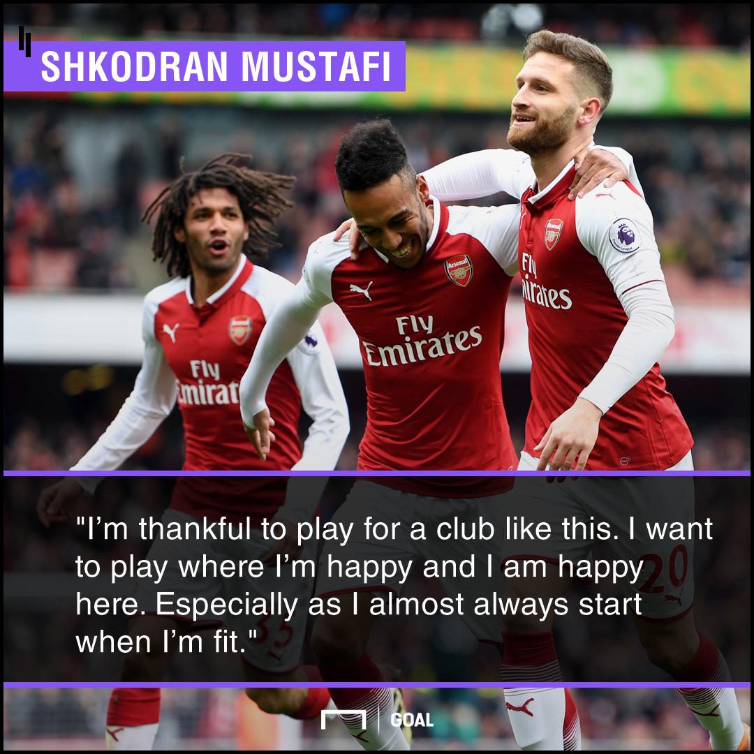 Shkodran Mustafi staying at Arsenal