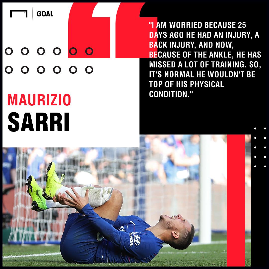 Eden Hazard Sarri injuries PS