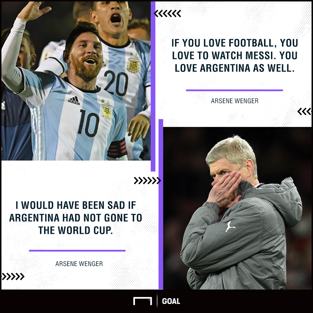 Arsene Wenger Lionel Messi World Cup