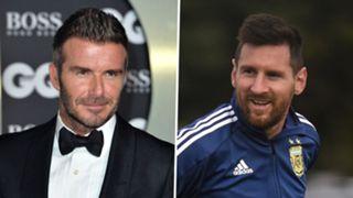 David Beckham, Lionel Messi