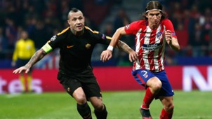 Radja Nainggolan Filipe Luis Atletico Madrid Roma