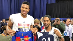 Ronaldinho NBA All-Star Game Giannis Antetokounmpo