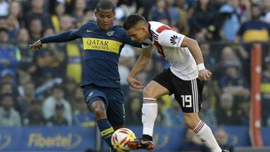 Wilmar Barrios Rafael Santos Borre Boca River Superclasico Superliga 23092018