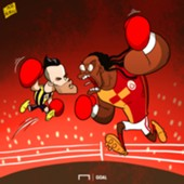 Cartoon Valbuena Gomis Fenerbahce Galatasaray