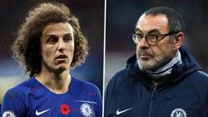 David Luiz Maurizio Sarri Chelsea 2018-19