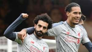 Mohamed Salah Virgil van Dijk Liverpool 2018