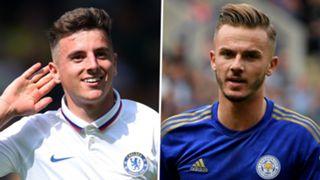 Mason Mount James Maddison Chelsea Leicester