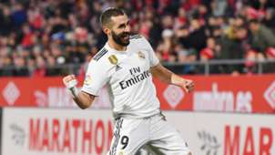 Karim Benzema Real Madrid Girona Copa del Rey 31012019