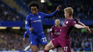 Willian Kevin De Bruyne Chelsea Manchester City Premier League