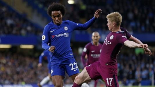 Willian Kevin De Bruyne Chelsea Manchester City Premier League