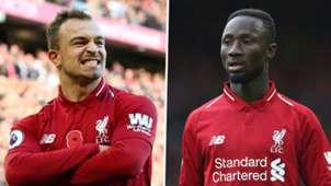 Xherdan Shaqiri Naby Keita Liverpool 2018-19