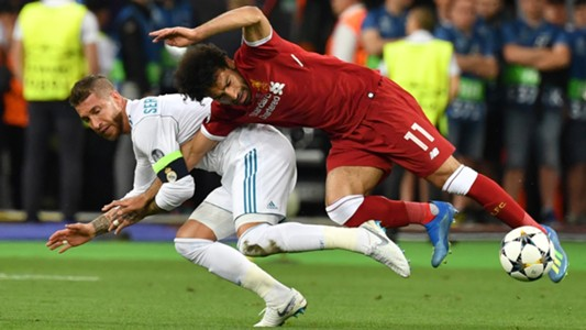 Sergio Ramos Mohamed Salah Real Madrid Liverpool UCL