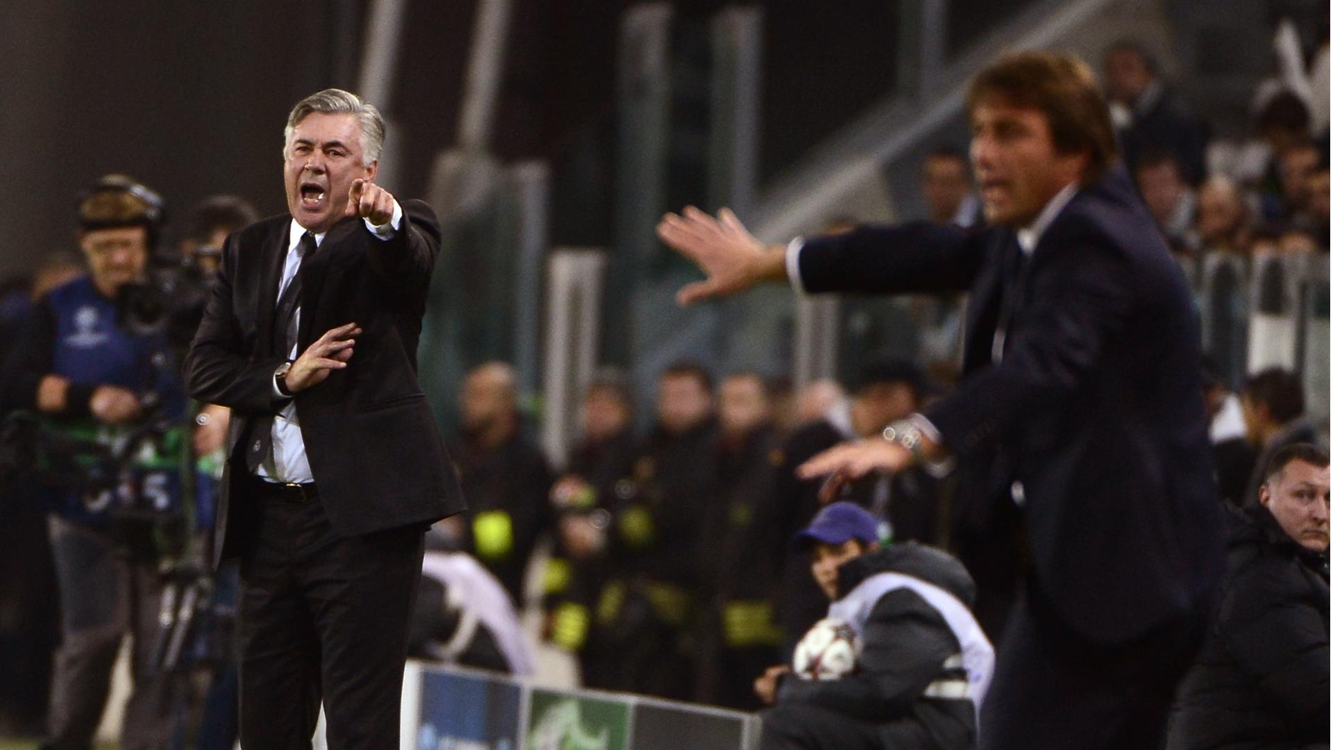 Carlo Ancelotti and Antonio Conte