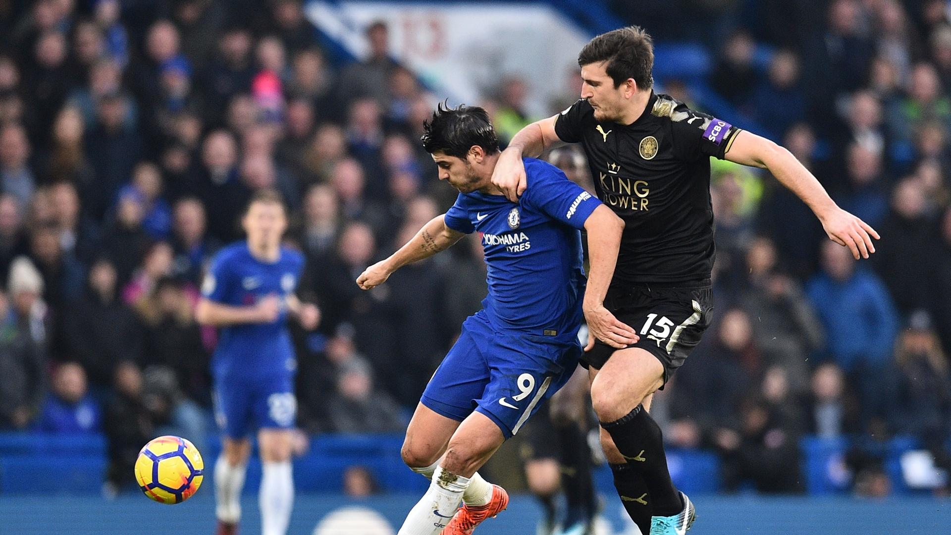 Álvaro Morata & Harry Maguire - Chelsea v Leicester City