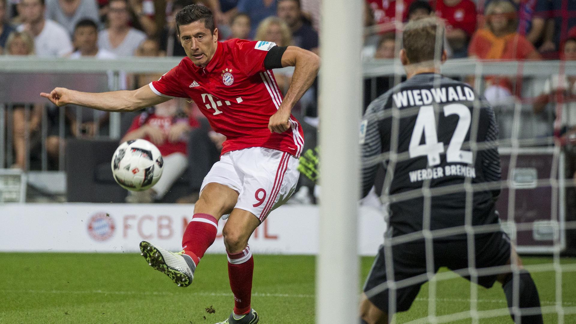 Robert Lewandowski Bayern Bremen Wiedwald