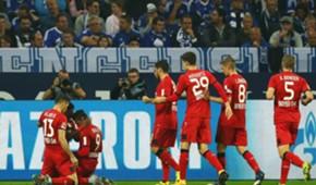 Bayer Leverkusen celebration against Schalke