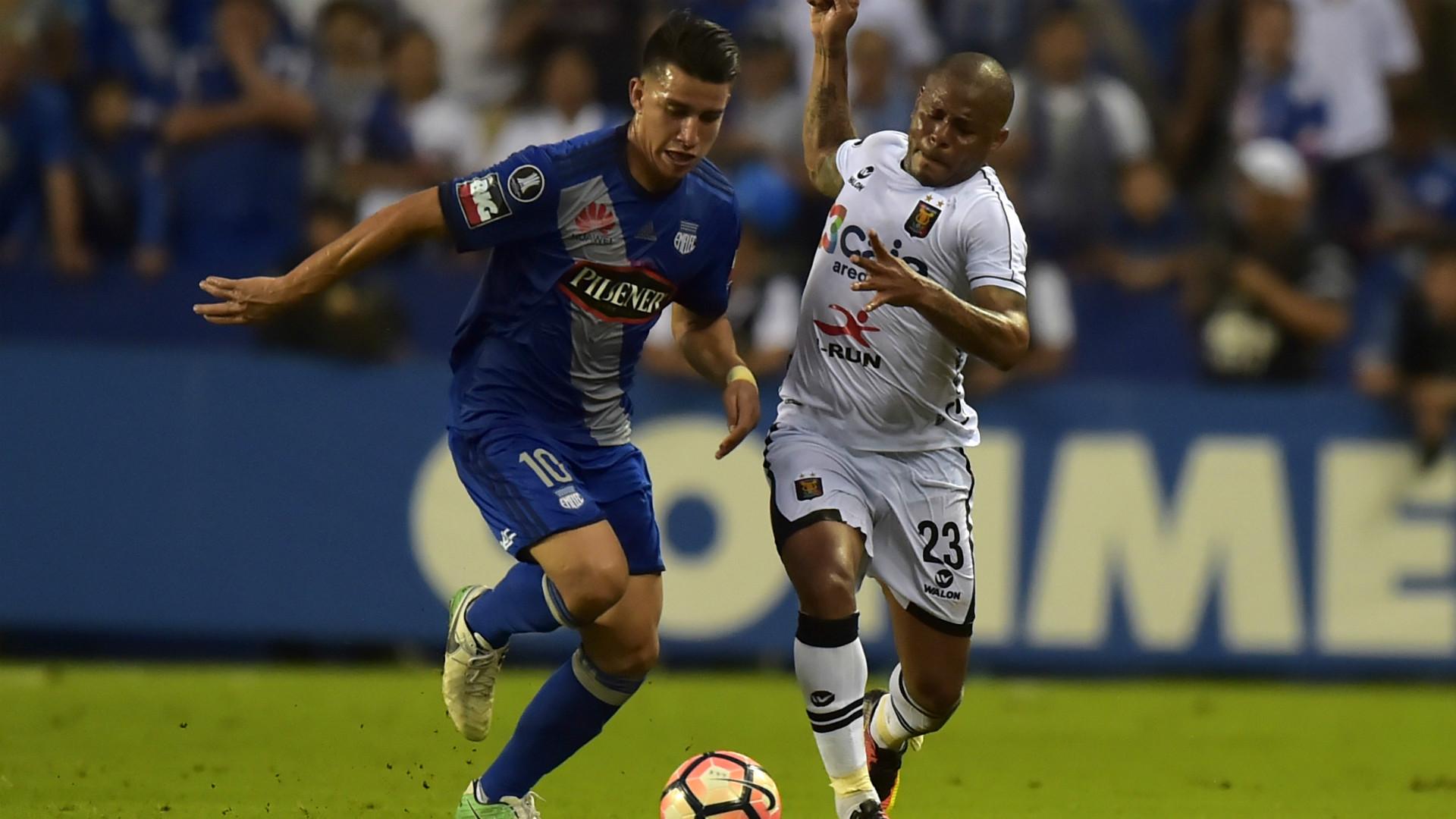 Fernando Gaibor Wilmer Aguirre Emelec Melgar Copa Libertadores 2017