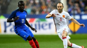 Ngolo Kante Andres Iniesta France Spain friendly 28032017
