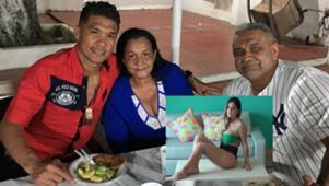 Teófilo Gutiérrez y familia