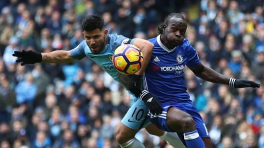 Victor Moses Chelsea Sergio Aguero Manchester City Premier League