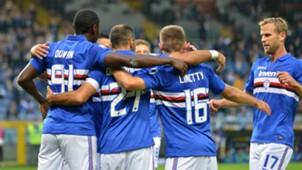 Sampdoria celebrating Crotone Serie A
