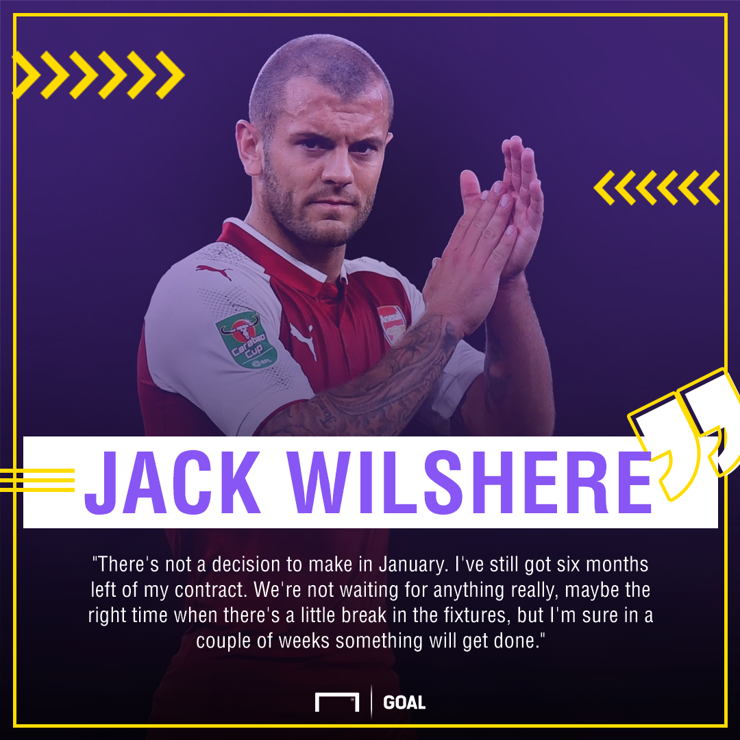 Jack Wilshere Arsenal contract wait