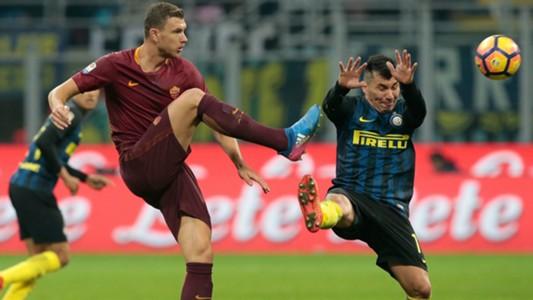 Edin Dzeko Inter Roma Serie A 26022017