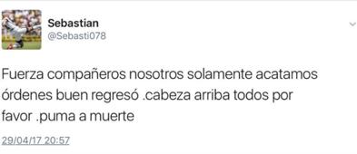 Tuit Darío Verón