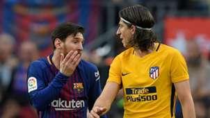Filipe Luis Lionel Messi FC Barcelona Atletico Madrid
