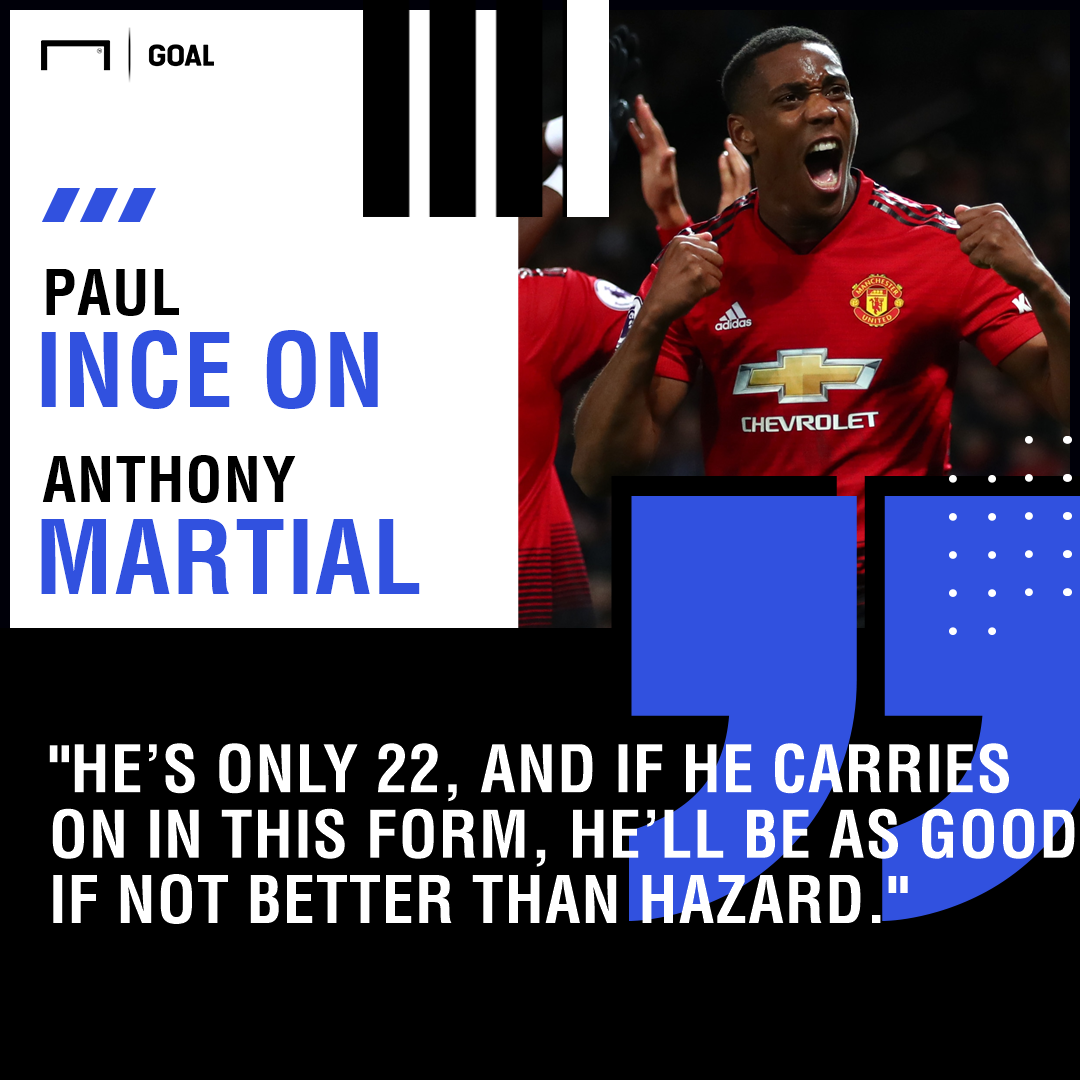 Anthony Martial can be better than Eden Hazard Paul Ince