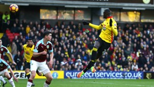M'Baye Niang Watford Burnley Premier League 2017/02/04