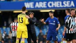 Thibaut Courtois Antonio Conte Chelsea