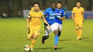 Ho Khac Ngoc vs Yao Hermann Kouassi Than Quang Ninh SLNA V.League 2019