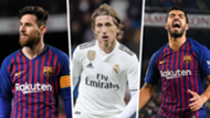 Barcelona Real Madrid combined XI