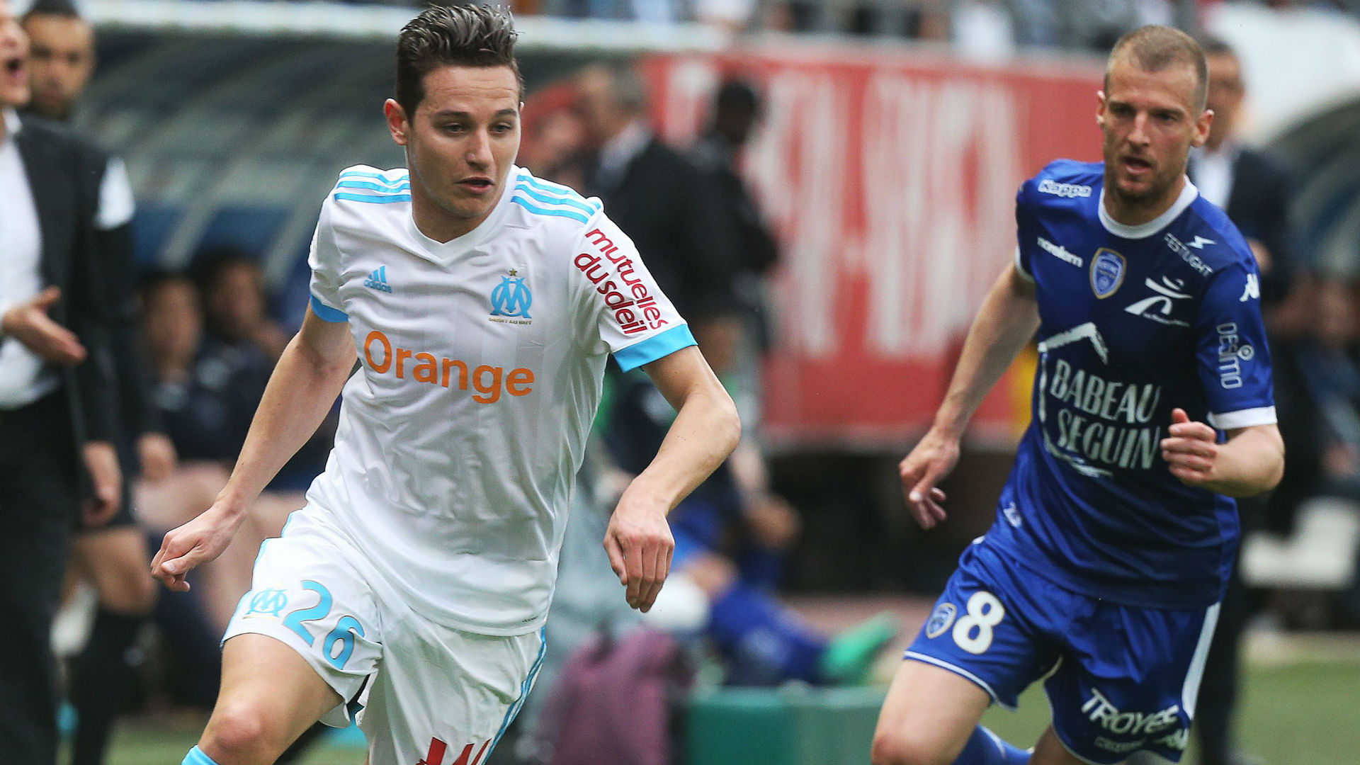 Florian Thauvin Stephane Darbion Troyes Marseille Ligue 1 15042018