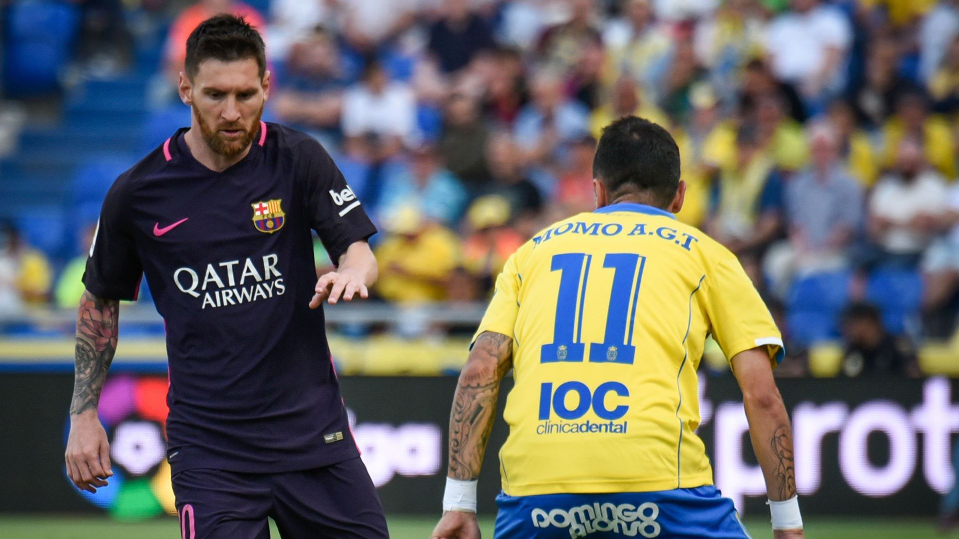 Lionel Messi Momo Las Palmas Barcelona LaLiga 14052017