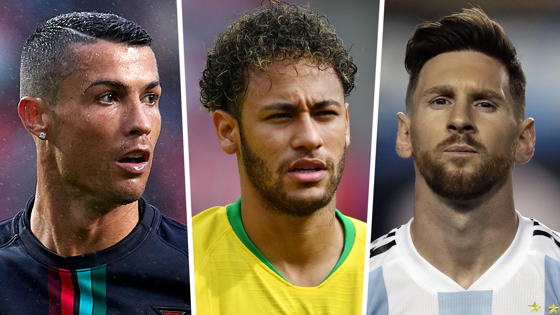 Cristiano Ronaldo Neymar Lionel Messi composite