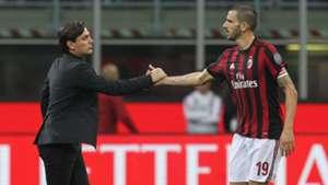 Vincenzo Montella Leonardo Bonucci AC Milan