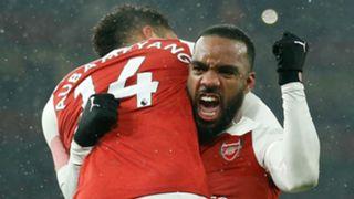 Alexandre Lacazette Pierre Emerick Aubameyang Arsenal 2018-19