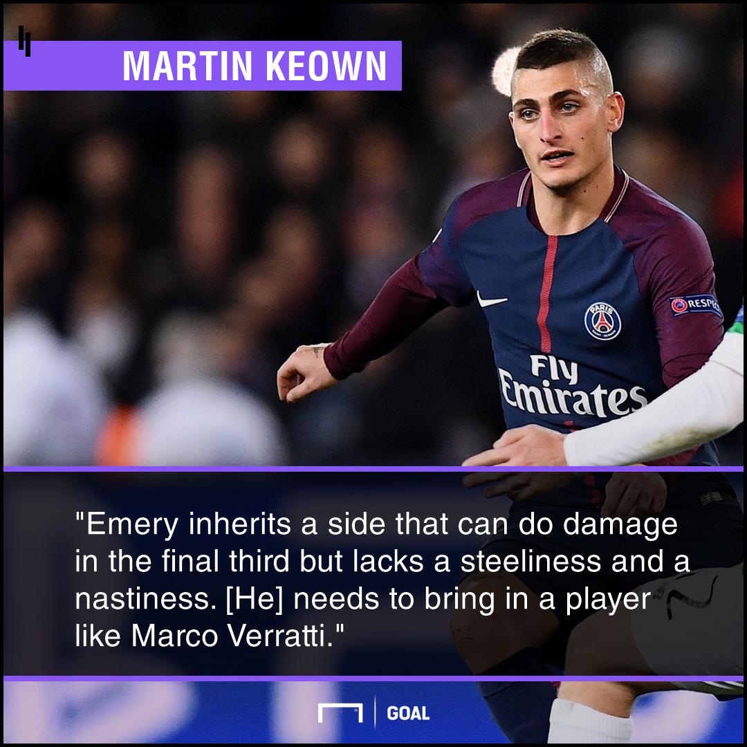 Marco Verratti perfect for Arsenal Martin Keown