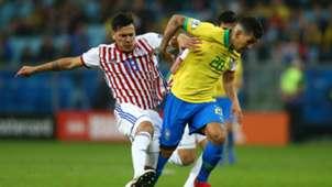 Roberto Firmino Gustavo Gomez Brazil Paraguay Copa America 2019