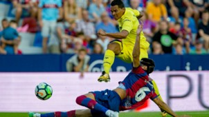 Carlos Bacca debut con Villarreal vs Levante 21082017