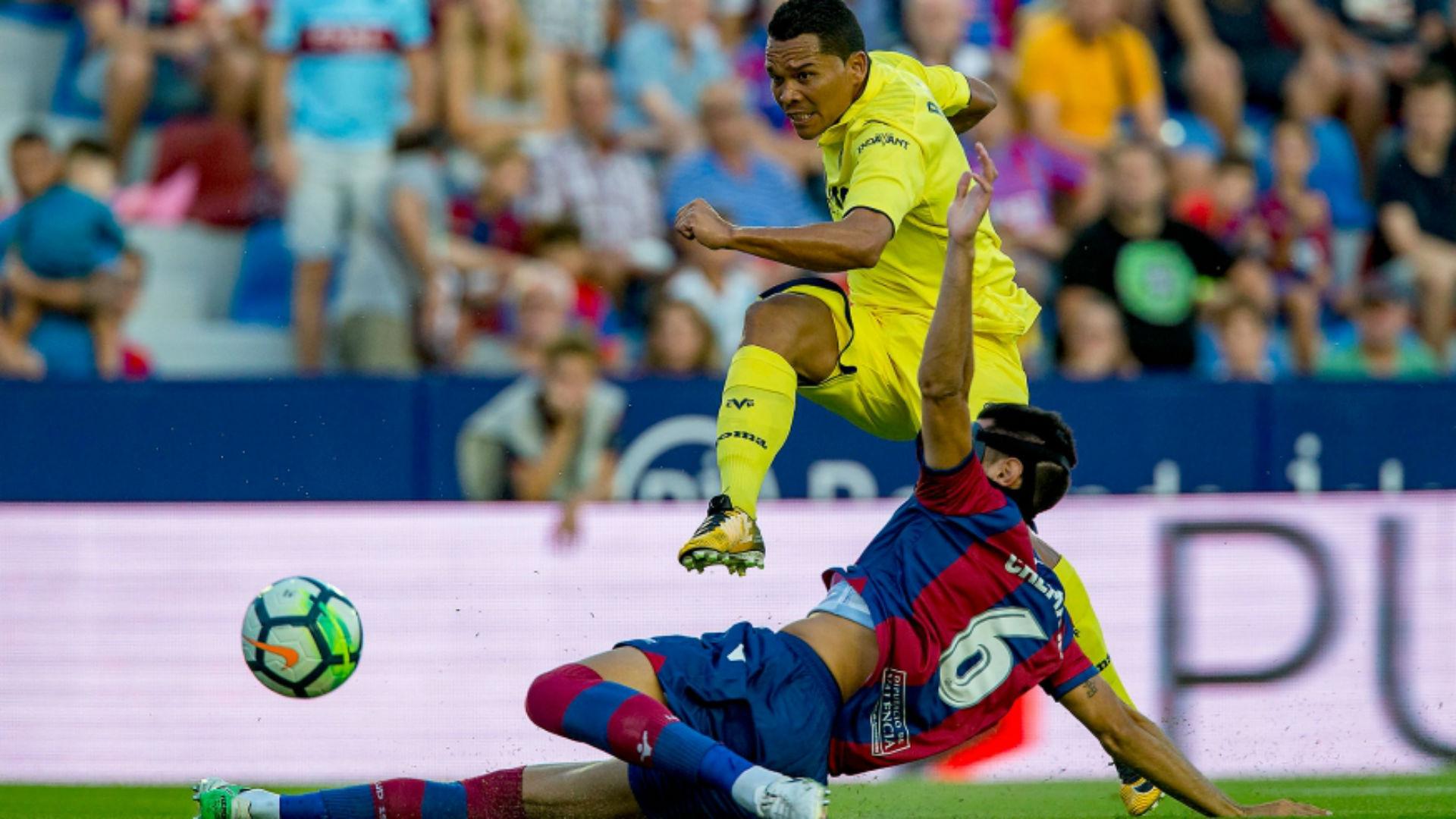 Carlos Bacca debut con Villarreal vs Levante 21082017