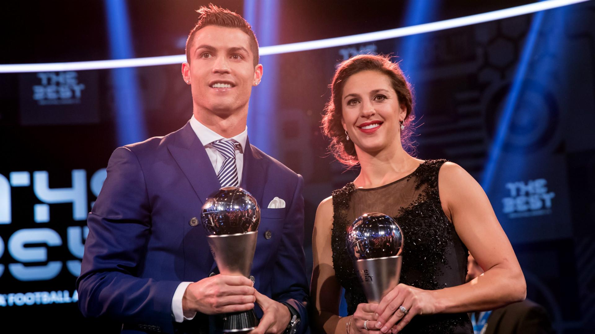 Cristiano Ronaldo Carli Lloyd FIFA Awards