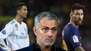 Ronaldo, Mourinho, Messi split
