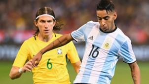 Filipe Luis Jose Luis Gomez Brasil Argentina Friendlies 09062017