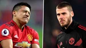 Alexis Sanchez, David de Gea, Man Utd