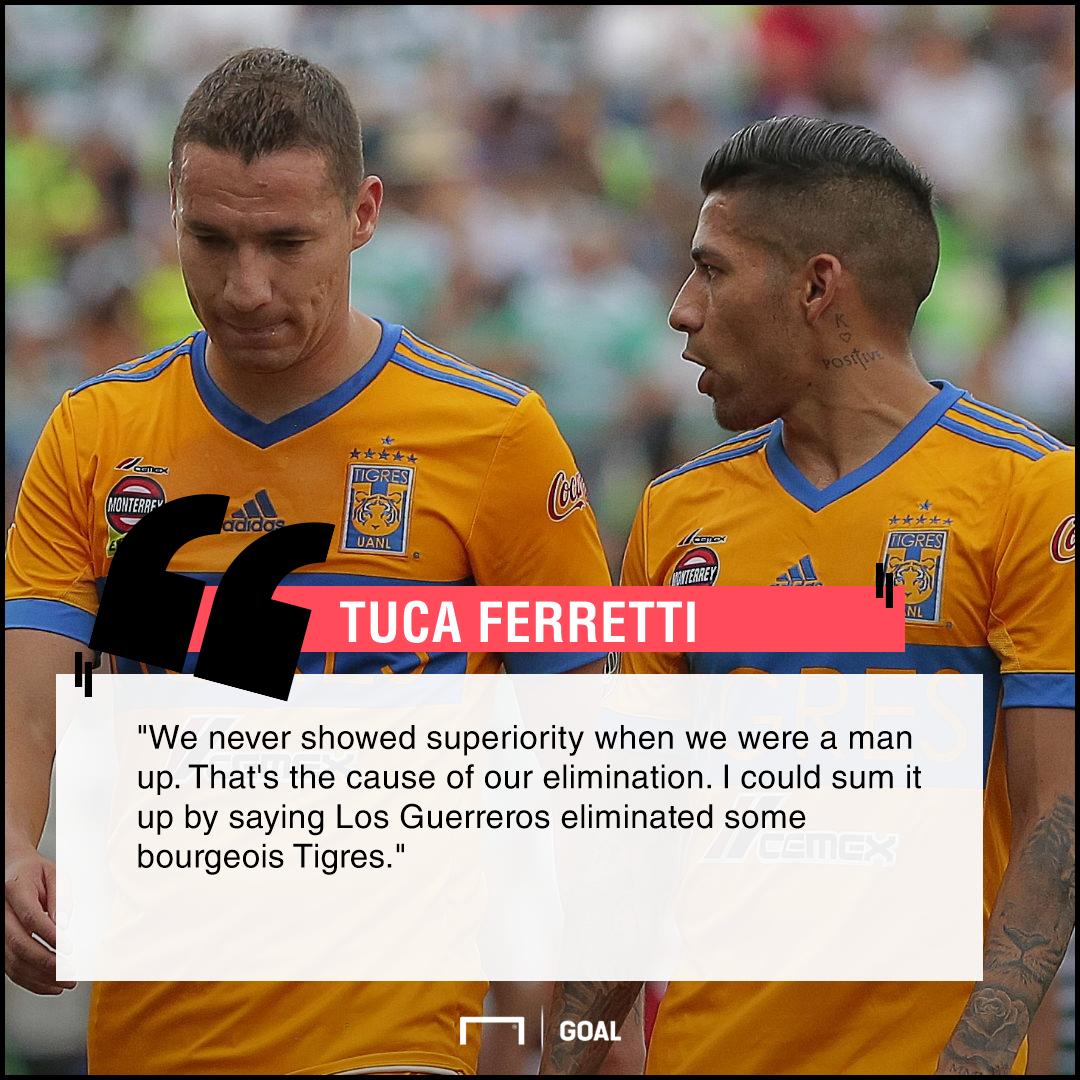 Tuca Ferretti on Tigres elimination