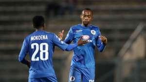 Teboho Mokoena & Thabo Mnyamane, SuperSport United, April 2018